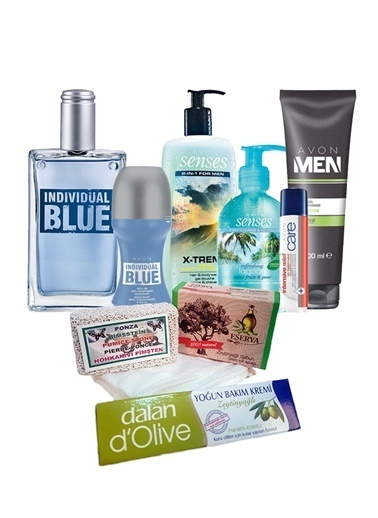 Avon Blue Parfüm Rollon Erkek Banyo Bakım Seti Renksiz